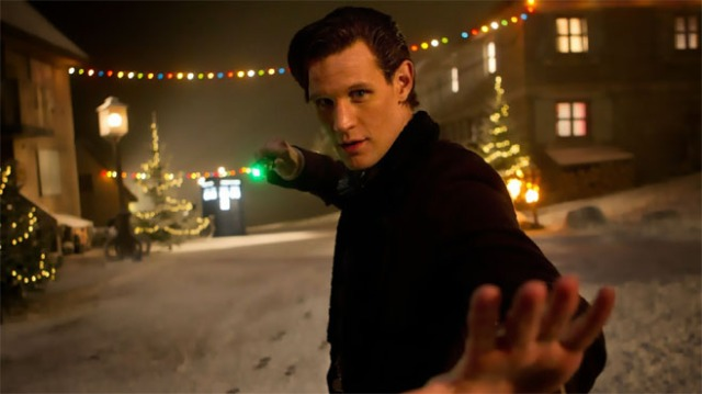 The Eleventh Doctor in action. Copyright © 2013 by BBC.
